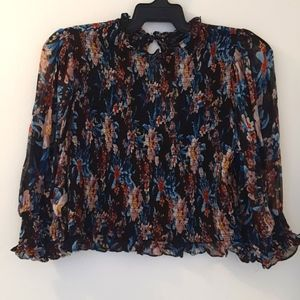 Zara woman 100% Viscose multi coloured top